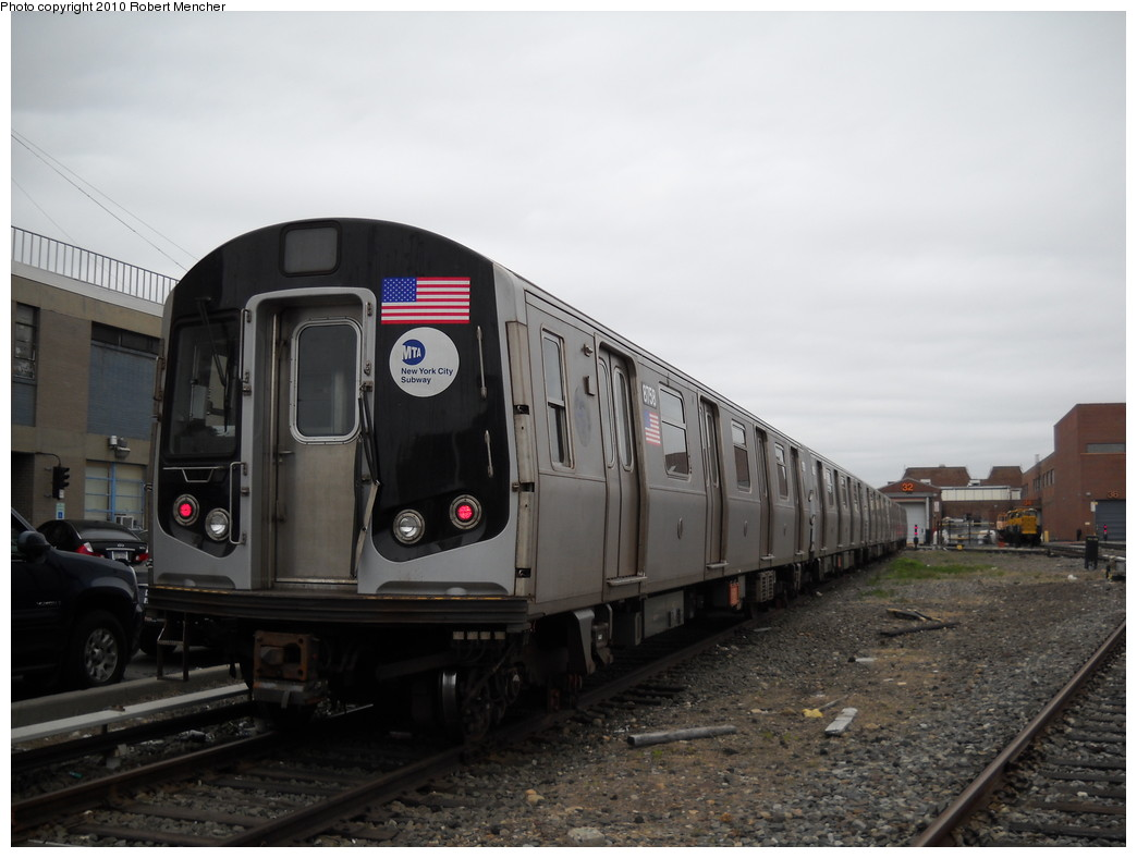 (192k, 1044x788)<br><b>Country:</b> United States<br><b>City:</b> New York<br><b>System:</b> New York City Transit<br><b>Location:</b> Coney Island Yard<br><b>Car:</b> R-160B (Kawasaki, 2005-2008)  8758 <br><b>Photo by:</b> Robert Mencher<br><b>Date:</b> 4/16/2010<br><b>Viewed (this week/total):</b> 0 / 460