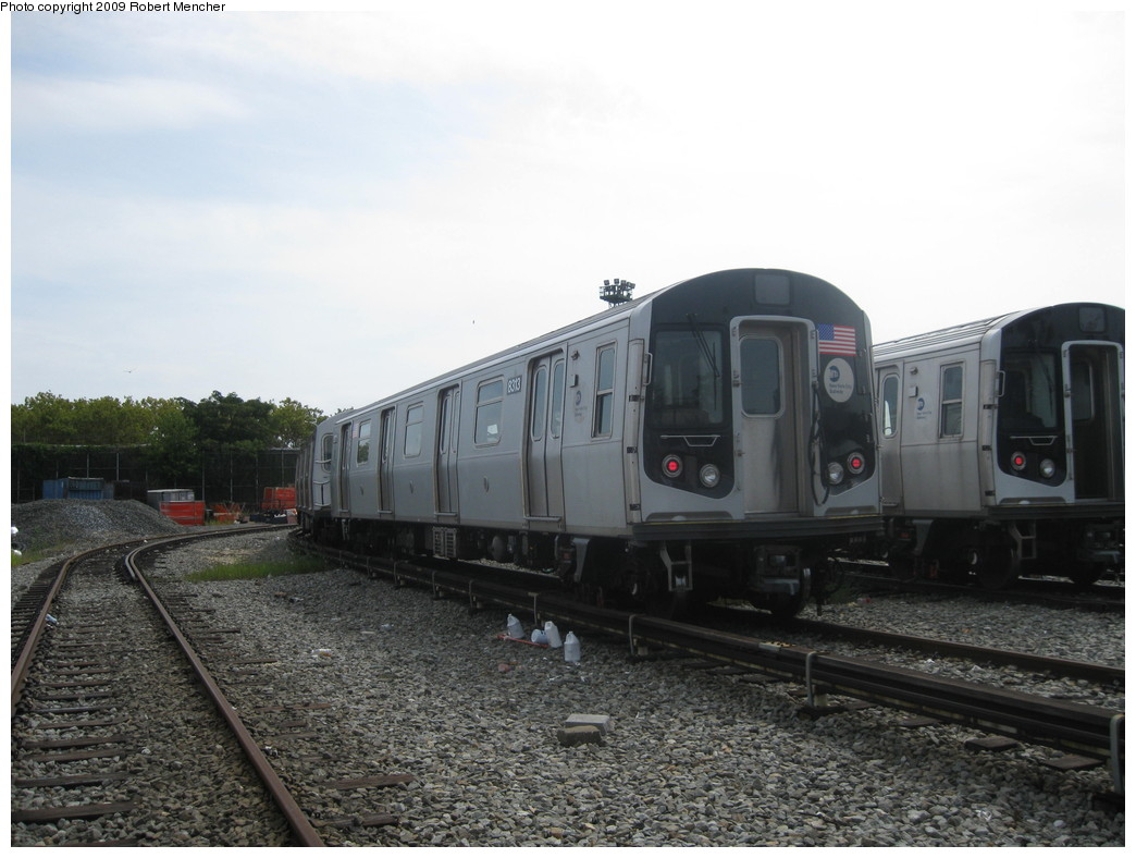(190k, 1044x788)<br><b>Country:</b> United States<br><b>City:</b> New York<br><b>System:</b> New York City Transit<br><b>Location:</b> Rockaway Parkway (Canarsie) Yard<br><b>Car:</b> R-160A-1 (Alstom, 2005-2008, 4 car sets)  8313 <br><b>Photo by:</b> Robert Mencher<br><b>Date:</b> 9/7/2009<br><b>Viewed (this week/total):</b> 1 / 458