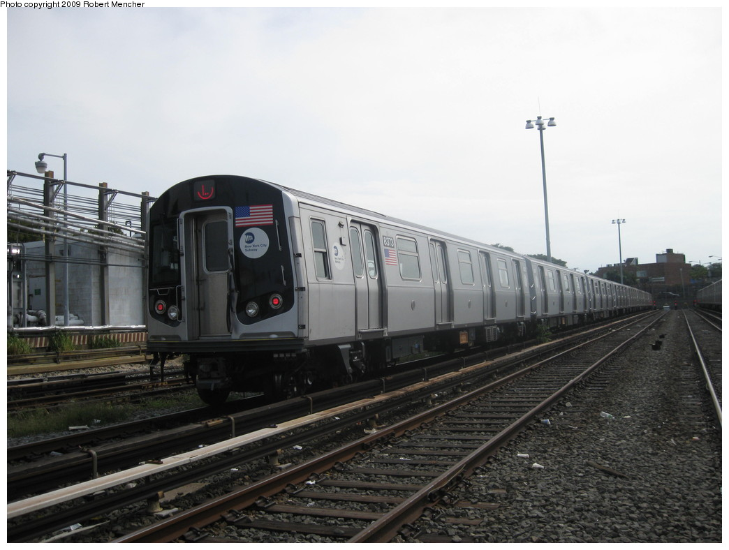 (184k, 1044x788)<br><b>Country:</b> United States<br><b>City:</b> New York<br><b>System:</b> New York City Transit<br><b>Location:</b> Rockaway Parkway (Canarsie) Yard<br><b>Car:</b> R-160A-1 (Alstom, 2005-2008, 4 car sets)  8373 <br><b>Photo by:</b> Robert Mencher<br><b>Date:</b> 9/7/2009<br><b>Viewed (this week/total):</b> 0 / 499