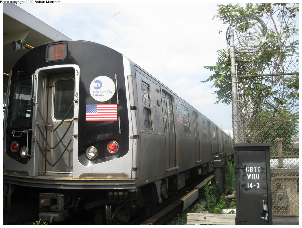 (236k, 1044x788)<br><b>Country:</b> United States<br><b>City:</b> New York<br><b>System:</b> New York City Transit<br><b>Line:</b> BMT Canarsie Line<br><b>Location:</b> Rockaway Parkway <br><b>Route:</b> L<br><b>Car:</b> R-143 (Kawasaki, 2001-2002) 8221 <br><b>Photo by:</b> Robert Mencher<br><b>Date:</b> 9/7/2009<br><b>Viewed (this week/total):</b> 1 / 744