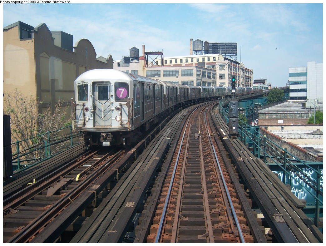 (286k, 1044x788)<br><b>Country:</b> United States<br><b>City:</b> New York<br><b>System:</b> New York City Transit<br><b>Line:</b> IRT Flushing Line<br><b>Location:</b> Court House Square/45th Road <br><b>Route:</b> 7<br><b>Car:</b> R-62A (Bombardier, 1984-1987)  1690 <br><b>Photo by:</b> Aliandro Brathwaite<br><b>Date:</b> 8/26/2009<br><b>Viewed (this week/total):</b> 1 / 834