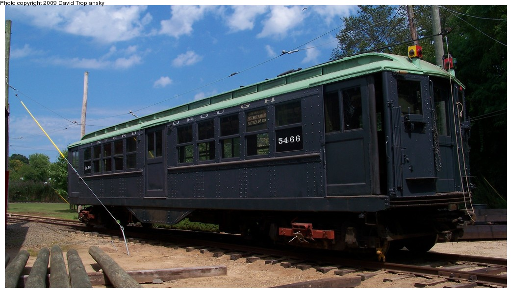 (184k, 1044x599)<br><b>Country:</b> United States<br><b>City:</b> East Haven/Branford, Ct.<br><b>System:</b> Shore Line Trolley Museum <br><b>Car:</b> Low-V 5466 <br><b>Photo by:</b> David Tropiansky<br><b>Date:</b> 9/5/2009<br><b>Viewed (this week/total):</b> 1 / 247
