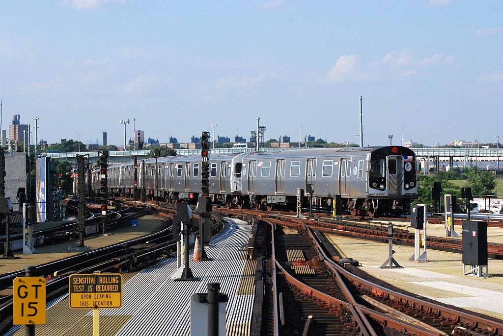 (161k, 1024x686)<br><b>Country:</b> United States<br><b>City:</b> New York<br><b>System:</b> New York City Transit<br><b>Location:</b> Coney Island/Stillwell Avenue<br><b>Route:</b> N<br><b>Car:</b> R-160A/R-160B Series (Number Unknown)  <br><b>Photo by:</b> Richard Chase<br><b>Date:</b> 8/30/2009<br><b>Viewed (this week/total):</b> 2 / 674