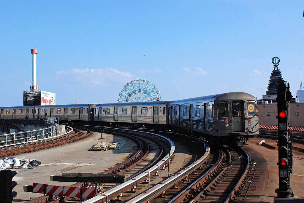 (133k, 1024x685)<br><b>Country:</b> United States<br><b>City:</b> New York<br><b>System:</b> New York City Transit<br><b>Location:</b> Coney Island/Stillwell Avenue<br><b>Route:</b> Q<br><b>Car:</b> R-68/R-68A Series (Number Unknown)  <br><b>Photo by:</b> Richard Chase<br><b>Date:</b> 8/30/2009<br><b>Viewed (this week/total):</b> 1 / 1194