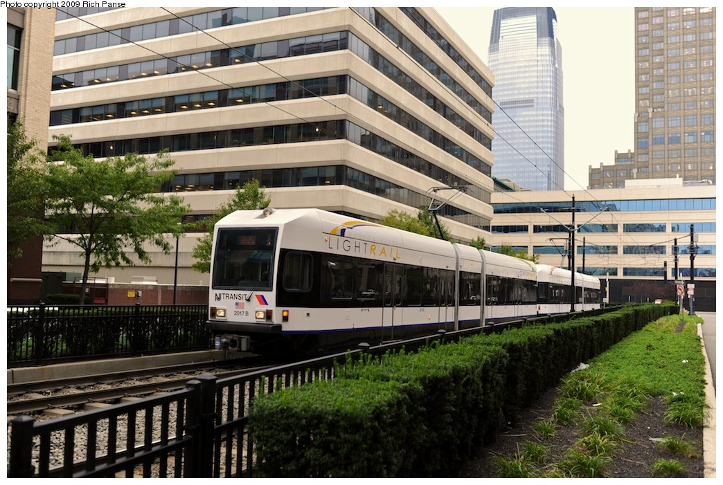 (240k, 1044x701)<br><b>Country:</b> United States<br><b>City:</b> Jersey City, NJ<br><b>System:</b> Hudson Bergen Light Rail<br><b>Location:</b> Harborside <br><b>Car:</b> NJT-HBLR LRV (Kinki-Sharyo, 1998-99)  2017 <br><b>Photo by:</b> Richard Panse<br><b>Date:</b> 10/9/2009<br><b>Viewed (this week/total):</b> 4 / 180