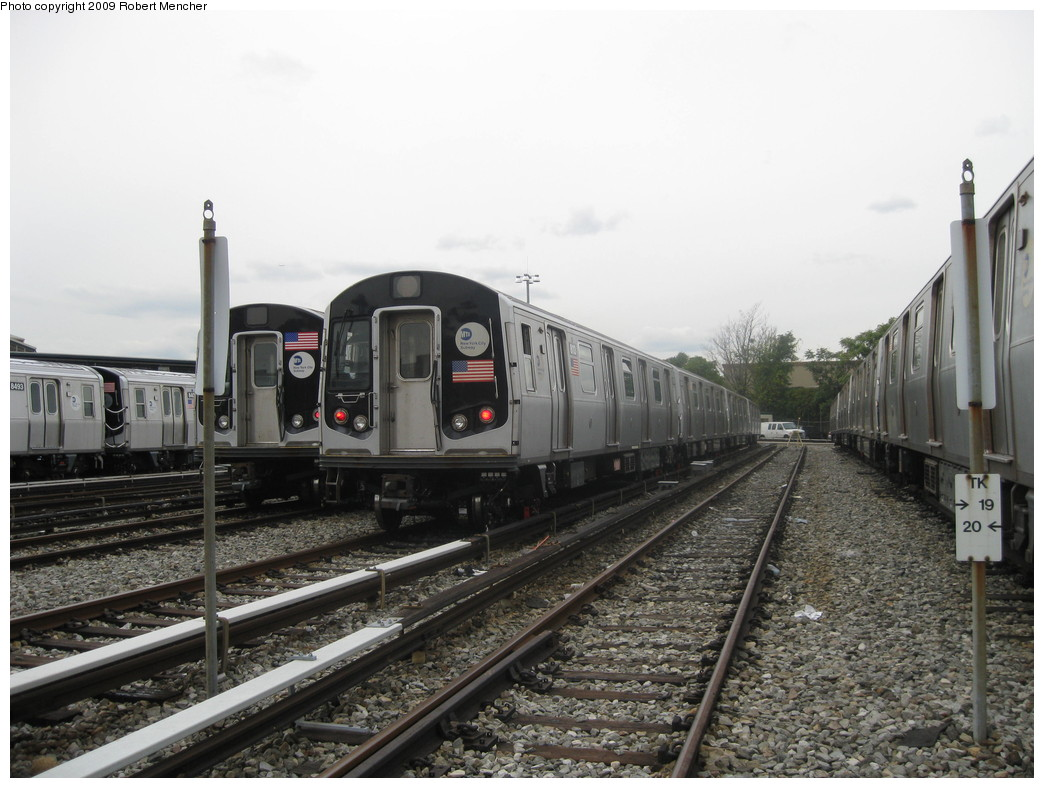 (207k, 1044x788)<br><b>Country:</b> United States<br><b>City:</b> New York<br><b>System:</b> New York City Transit<br><b>Location:</b> East New York Yard/Shops<br><b>Car:</b> R-143 (Kawasaki, 2001-2002) 8113 <br><b>Photo by:</b> Robert Mencher<br><b>Date:</b> 10/14/2009<br><b>Viewed (this week/total):</b> 1 / 453