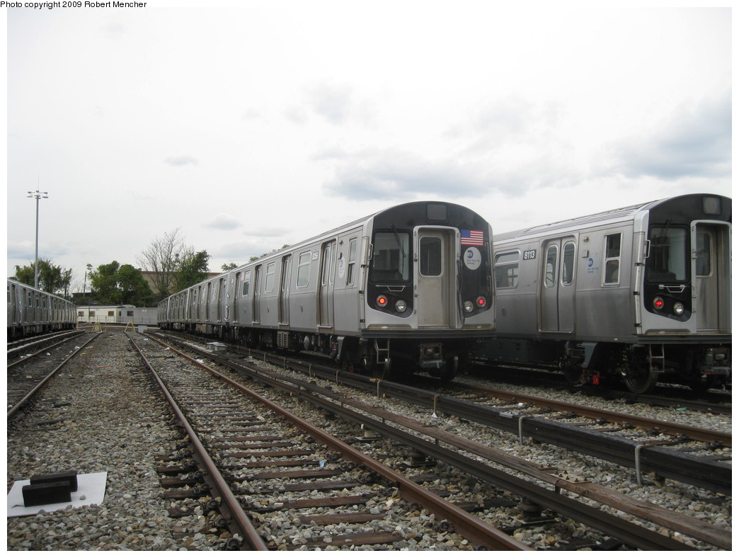 (203k, 1044x788)<br><b>Country:</b> United States<br><b>City:</b> New York<br><b>System:</b> New York City Transit<br><b>Location:</b> East New York Yard/Shops<br><b>Car:</b> R-160A-1 (Alstom, 2005-2008, 4 car sets)  8356 <br><b>Photo by:</b> Robert Mencher<br><b>Date:</b> 10/14/2009<br><b>Viewed (this week/total):</b> 0 / 283