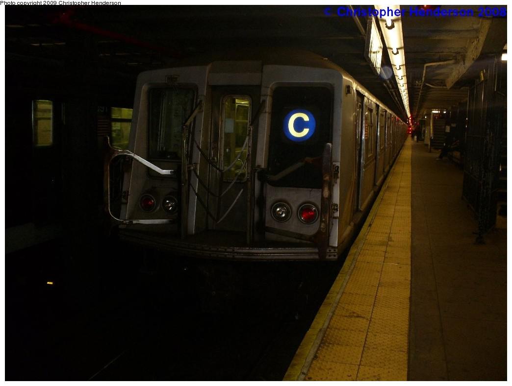 (133k, 1044x788)<br><b>Country:</b> United States<br><b>City:</b> New York<br><b>System:</b> New York City Transit<br><b>Line:</b> IND 8th Avenue Line<br><b>Location:</b> 168th Street <br><b>Route:</b> C<br><b>Car:</b> R-40 (St. Louis, 1968)  4411 <br><b>Photo by:</b> Christopher Henderson<br><b>Date:</b> 12/8/2008<br><b>Viewed (this week/total):</b> 1 / 1068
