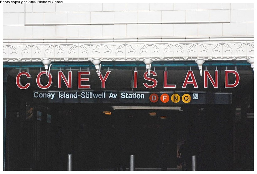 (105k, 820x556)<br><b>Country:</b> United States<br><b>City:</b> New York<br><b>System:</b> New York City Transit<br><b>Location:</b> Coney Island/Stillwell Avenue<br><b>Photo by:</b> Richard Chase<br><b>Date:</b> 10/2009<br><b>Notes:</b> Signage at entrance.<br><b>Viewed (this week/total):</b> 1 / 877