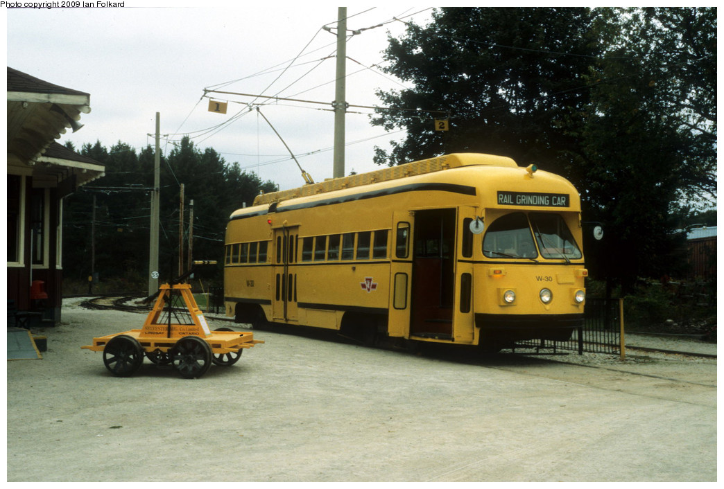 (245k, 1044x706)<br><b>Country:</b> Canada<br><b>City:</b> Toronto<br><b>System:</b> Halton County Radial Railway <br><b>Photo by:</b> Ian Folkard<br><b>Date:</b> 9/26/2009<br><b>Notes:</b> W-30 at the station<br><b>Viewed (this week/total):</b> 0 / 915