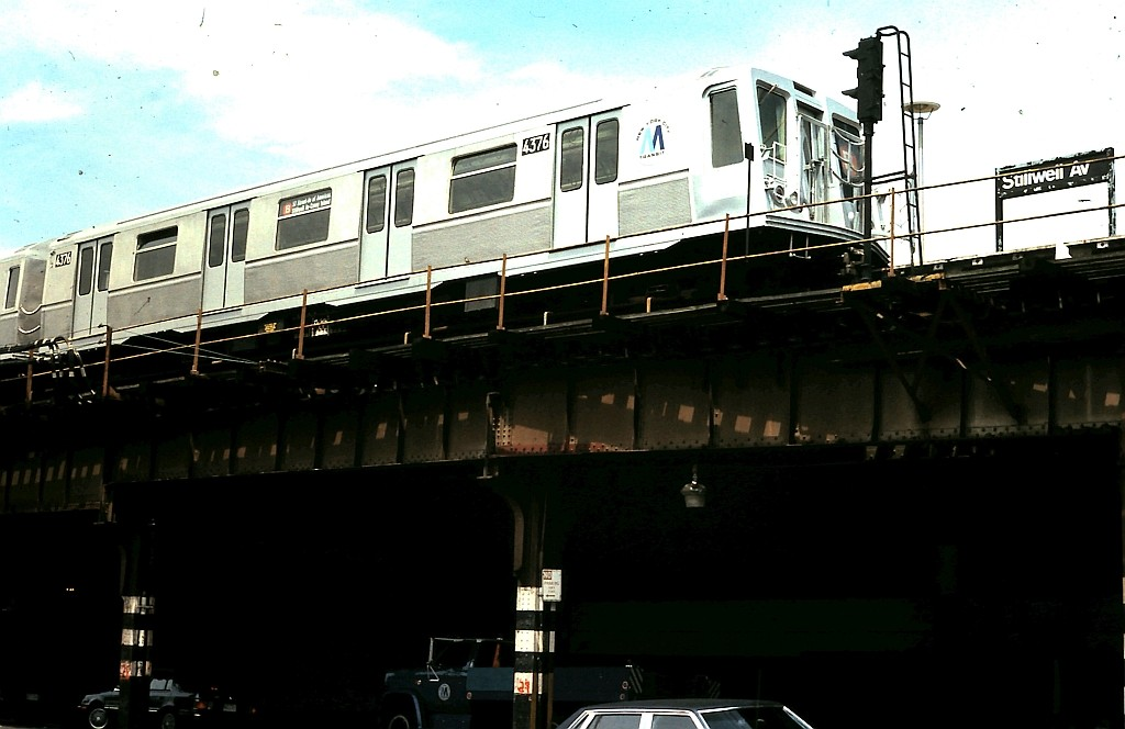 (131k, 1024x664)<br><b>Country:</b> United States<br><b>City:</b> New York<br><b>System:</b> New York City Transit<br><b>Location:</b> Coney Island/Stillwell Avenue<br><b>Route:</b> B<br><b>Car:</b> R-40 (St. Louis, 1968)  4376 <br><b>Collection of:</b> John Barnes<br><b>Date:</b> 6/4/1988<br><b>Viewed (this week/total):</b> 5 / 1902
