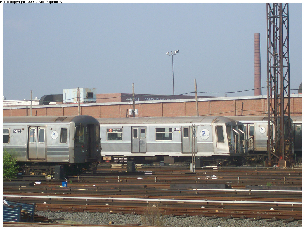 (269k, 1044x788)<br><b>Country:</b> United States<br><b>City:</b> New York<br><b>System:</b> New York City Transit<br><b>Location:</b> Coney Island Yard<br><b>Car:</b> R-40 (St. Louis, 1968)  4406 <br><b>Photo by:</b> David Tropiansky<br><b>Date:</b> 6/7/2008<br><b>Viewed (this week/total):</b> 1 / 323