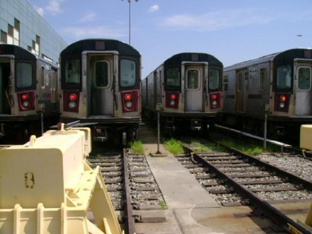 (42k, 640x480)<br><b>Country:</b> United States<br><b>City:</b> New York<br><b>System:</b> New York City Transit<br><b>Location:</b> East 180th Street Yard<br><b>Car:</b> R-142 or R-142A (Number Unknown)  <br><b>Photo by:</b> SubwayGuy<br><b>Date:</b> 8/10/2008<br><b>Notes:</b> Transit Museum tour.<br><b>Viewed (this week/total):</b> 0 / 805