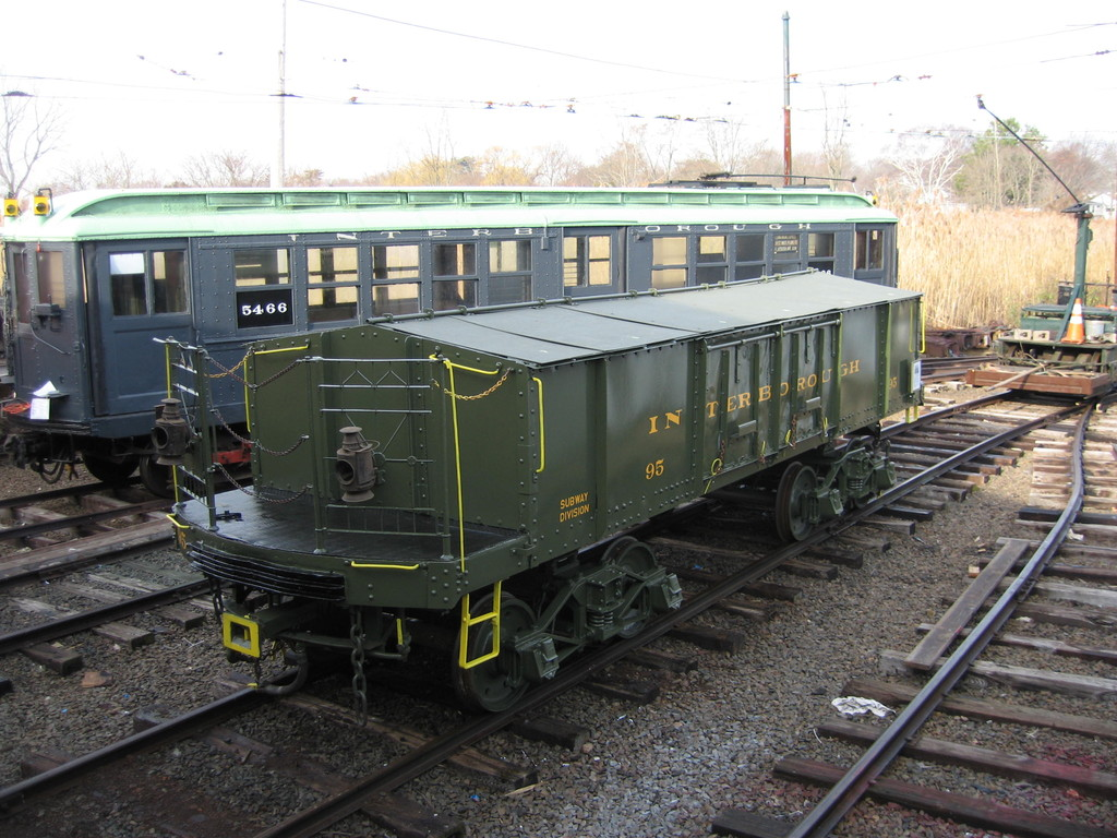 (248k, 1024x768)<br><b>Country:</b> United States<br><b>City:</b> East Haven/Branford, Ct.<br><b>System:</b> Shore Line Trolley Museum <br><b>Car:</b> IRT Covered Hopper 95 <br><b>Photo by:</b> Frank Pfuhler<br><b>Date:</b> 12/1/2009<br><b>Notes:</b> Being restored at Shore Line Trolley Museum<br><b>Viewed (this week/total):</b> 5 / 720