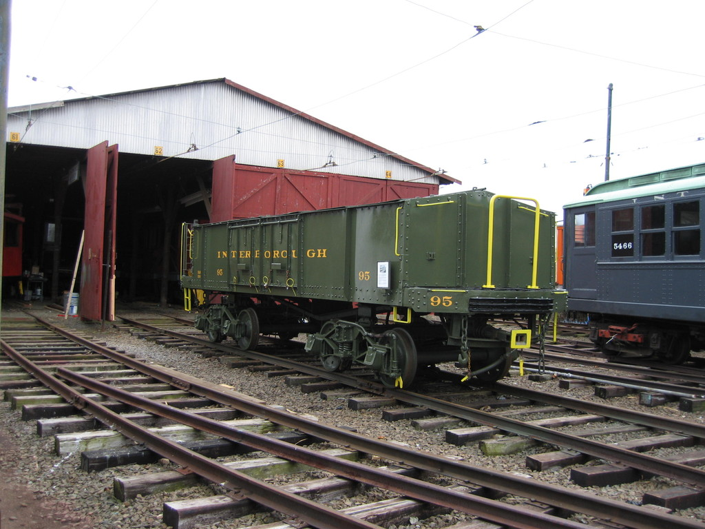 (218k, 1024x768)<br><b>Country:</b> United States<br><b>City:</b> East Haven/Branford, Ct.<br><b>System:</b> Shore Line Trolley Museum <br><b>Car:</b> IRT Covered Hopper 95 <br><b>Photo by:</b> Frank Pfuhler<br><b>Date:</b> 12/2/2009<br><b>Notes:</b> Being restored at Shore Line Trolley Museum<br><b>Viewed (this week/total):</b> 2 / 676