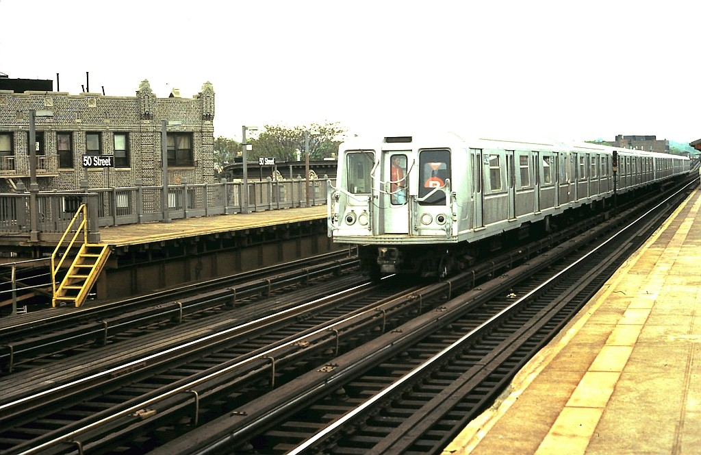(205k, 1024x664)<br><b>Country:</b> United States<br><b>City:</b> New York<br><b>System:</b> New York City Transit<br><b>Line:</b> BMT West End Line<br><b>Location:</b> 50th Street <br><b>Route:</b> B<br><b>Car:</b> R-40 (St. Louis, 1968)  4436 <br><b>Collection of:</b> John Barnes<br><b>Date:</b> 5/21/1988<br><b>Viewed (this week/total):</b> 7 / 1723