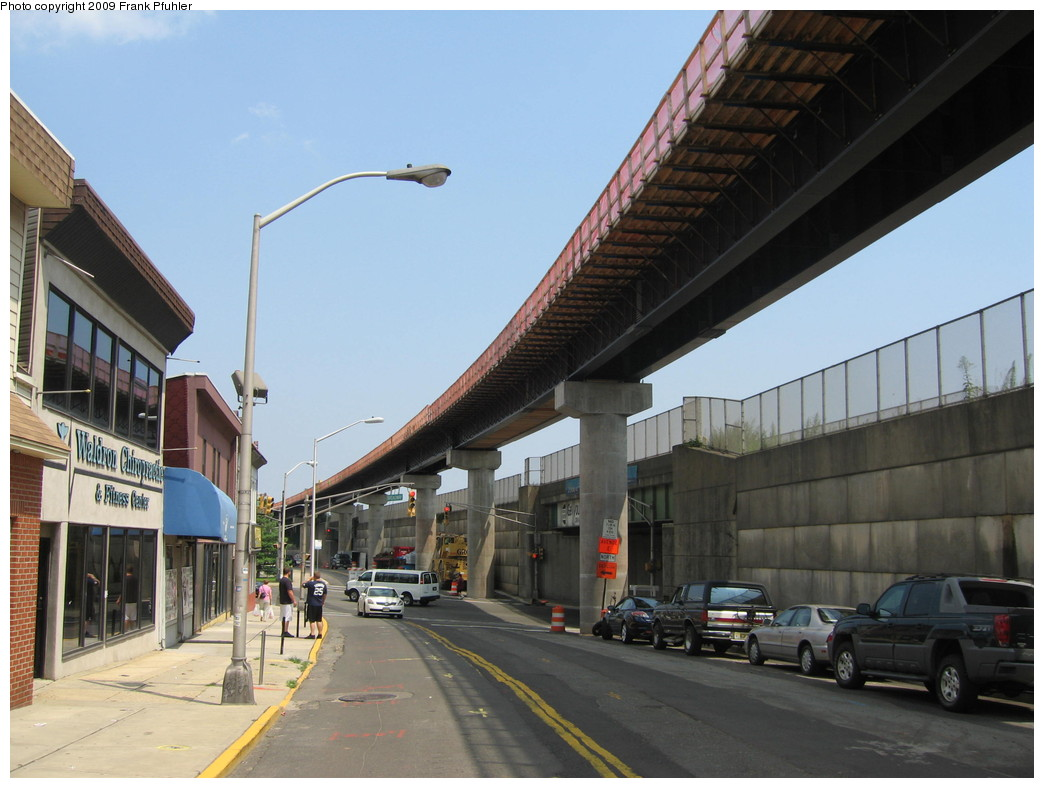 (197k, 1044x788)<br><b>Country:</b> United States<br><b>City:</b> Jersey City, NJ<br><b>System:</b> Hudson Bergen Light Rail<br><b>Location:</b> Bayonne 8th Street <br><b>Photo by:</b> Frank Pfuhler<br><b>Date:</b> 8/3/2009<br><b>Notes:</b> Construction of 8th Street extension.<br><b>Viewed (this week/total):</b> 1 / 447