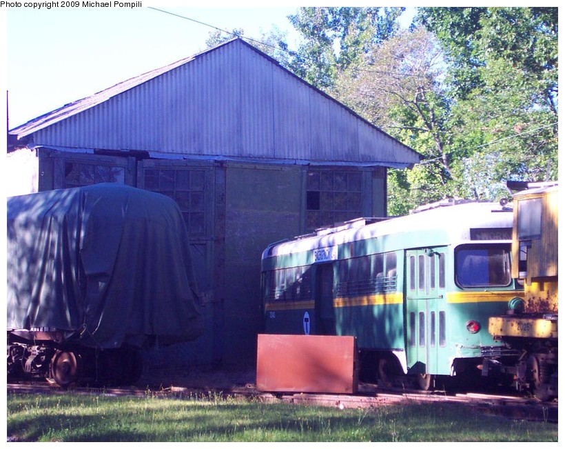 (176k, 820x651)<br><b>Country:</b> United States<br><b>City:</b> Kennebunk, ME<br><b>System:</b> Seashore Trolley Museum <br><b>Car:</b> MBTA/BSRy PCC Dallas Double End (Pullman-Standard, 1945)  3343 <br><b>Photo by:</b> Michael Pompili<br><b>Date:</b> 9/1/2001<br><b>Viewed (this week/total):</b> 1 / 499