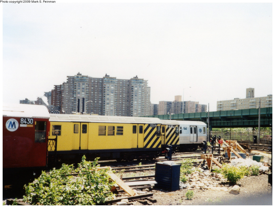 (228k, 1044x790)<br><b>Country:</b> United States<br><b>City:</b> New York<br><b>System:</b> New York City Transit<br><b>Location:</b> Coney Island Yard<br><b>Car:</b> R-21 (St. Louis, 1956-57) 37219 <br><b>Photo by:</b> Mark S. Feinman<br><b>Date:</b> 5/30/1993<br><b>Viewed (this week/total):</b> 3 / 600