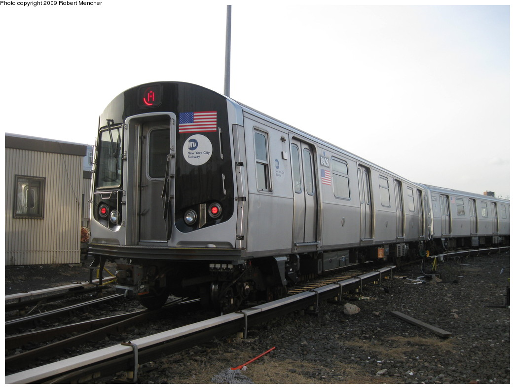 (171k, 1044x788)<br><b>Country:</b> United States<br><b>City:</b> New York<br><b>System:</b> New York City Transit<br><b>Location:</b> East New York Yard/Shops<br><b>Car:</b> R-160A-1 (Alstom, 2005-2008, 4 car sets)  8428 <br><b>Photo by:</b> Robert Mencher<br><b>Date:</b> 12/14/2009<br><b>Viewed (this week/total):</b> 1 / 581