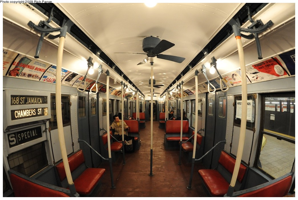 (199k, 1044x700)<br><b>Country:</b> United States<br><b>City:</b> New York<br><b>System:</b> New York City Transit<br><b>Route:</b> Museum Train Service (V)<br><b>Car:</b> R-9 (Pressed Steel, 1940)  1802 <br><b>Photo by:</b> Richard Panse<br><b>Date:</b> 12/13/2009<br><b>Viewed (this week/total):</b> 0 / 488