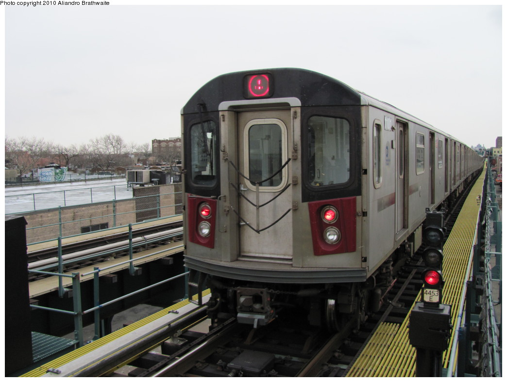 (184k, 1044x788)<br><b>Country:</b> United States<br><b>City:</b> New York<br><b>System:</b> New York City Transit<br><b>Line:</b> IRT Brooklyn Line<br><b>Location:</b> Van Siclen Avenue <br><b>Route:</b> 4<br><b>Car:</b> R-142 (Option Order, Bombardier, 2002-2003)  1101 <br><b>Photo by:</b> Aliandro Brathwaite<br><b>Date:</b> 1/2/2010<br><b>Viewed (this week/total):</b> 1 / 847