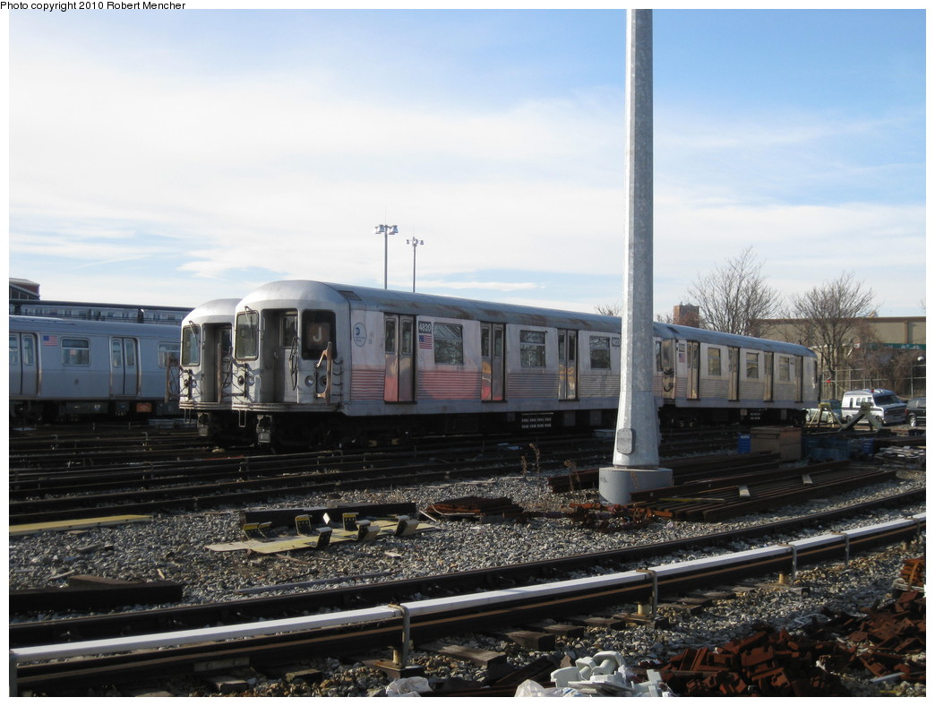 (208k, 1044x788)<br><b>Country:</b> United States<br><b>City:</b> New York<br><b>System:</b> New York City Transit<br><b>Location:</b> East New York Yard/Shops<br><b>Car:</b> R-42 (St. Louis, 1969-1970)  4820 <br><b>Photo by:</b> Robert Mencher<br><b>Date:</b> 1/4/2010<br><b>Viewed (this week/total):</b> 0 / 334