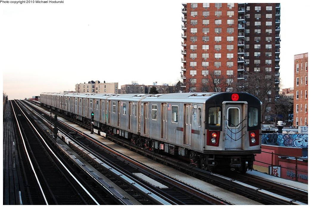 (265k, 1044x699)<br><b>Country:</b> United States<br><b>City:</b> New York<br><b>System:</b> New York City Transit<br><b>Line:</b> IRT White Plains Road Line<br><b>Location:</b> Pelham Parkway <br><b>Route:</b> 2<br><b>Car:</b> R-142 (Primary Order, Bombardier, 1999-2002)  6400 <br><b>Photo by:</b> Michael Hodurski<br><b>Date:</b> 3/24/2009<br><b>Viewed (this week/total):</b> 3 / 486