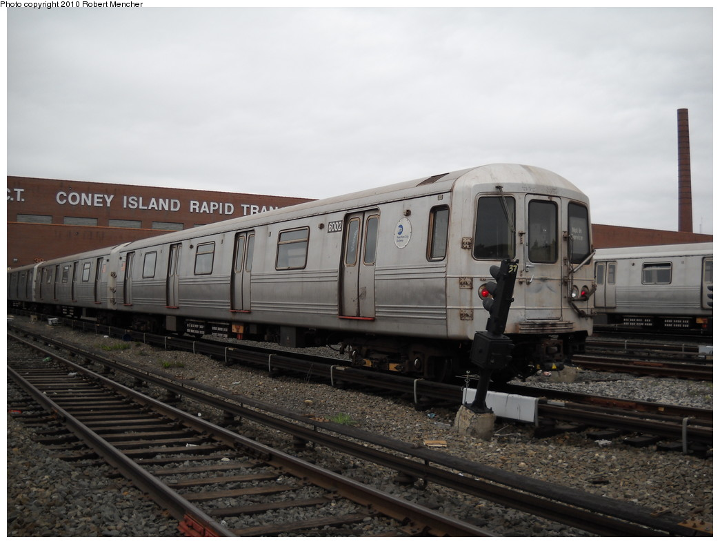 (212k, 1044x788)<br><b>Country:</b> United States<br><b>City:</b> New York<br><b>System:</b> New York City Transit<br><b>Location:</b> Coney Island Yard<br><b>Car:</b> R-46 (Pullman-Standard, 1974-75) 6002 <br><b>Photo by:</b> Robert Mencher<br><b>Date:</b> 4/16/2010<br><b>Viewed (this week/total):</b> 1 / 558