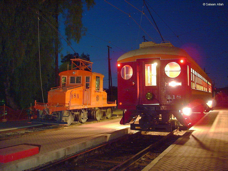 (165k, 800x600)<br><b>Country:</b> United States<br><b>City:</b> Perris, CA<br><b>System:</b> Orange Empire Railway Museum <br><b>Car:</b> Pacific Electric Blimp Interurban (Pullman, 1913)  418 <br><b>Photo by:</b> Salaam Allah<br><b>Date:</b> 7/13/2007<br><b>Viewed (this week/total):</b> 3 / 189