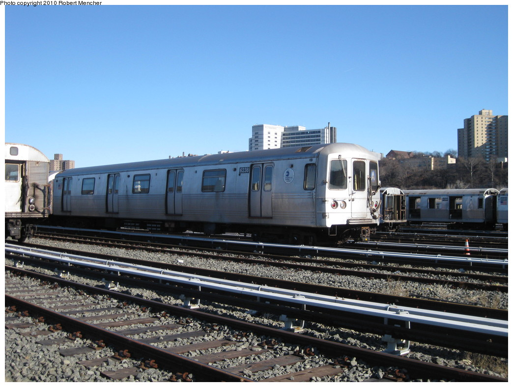 (233k, 1044x788)<br><b>Country:</b> United States<br><b>City:</b> New York<br><b>System:</b> New York City Transit<br><b>Location:</b> 207th Street Yard<br><b>Car:</b> R-46 (Pullman-Standard, 1974-75) 6238 <br><b>Photo by:</b> Robert Mencher<br><b>Date:</b> 1/18/2010<br><b>Viewed (this week/total):</b> 3 / 376