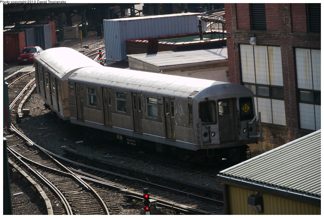 (240k, 1044x703)<br><b>Country:</b> United States<br><b>City:</b> New York<br><b>System:</b> New York City Transit<br><b>Location:</b> Coney Island Yard<br><b>Car:</b> R-42 (St. Louis, 1969-1970)  4665 <br><b>Photo by:</b> David Tropiansky<br><b>Date:</b> 1/27/2010<br><b>Viewed (this week/total):</b> 2 / 911