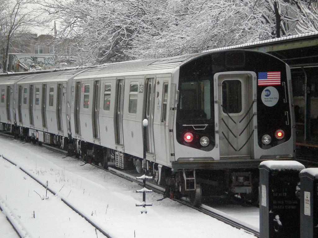 (166k, 1024x768)<br><b>Country:</b> United States<br><b>City:</b> New York<br><b>System:</b> New York City Transit<br><b>Line:</b> BMT Sea Beach Line<br><b>Location:</b> 8th Avenue <br><b>Route:</b> M reroute<br><b>Car:</b> R-160A-1 (Alstom, 2005-2008, 4 car sets)  8436 <br><b>Photo by:</b> John Dooley<br><b>Date:</b> 2/10/2010<br><b>Viewed (this week/total):</b> 2 / 477