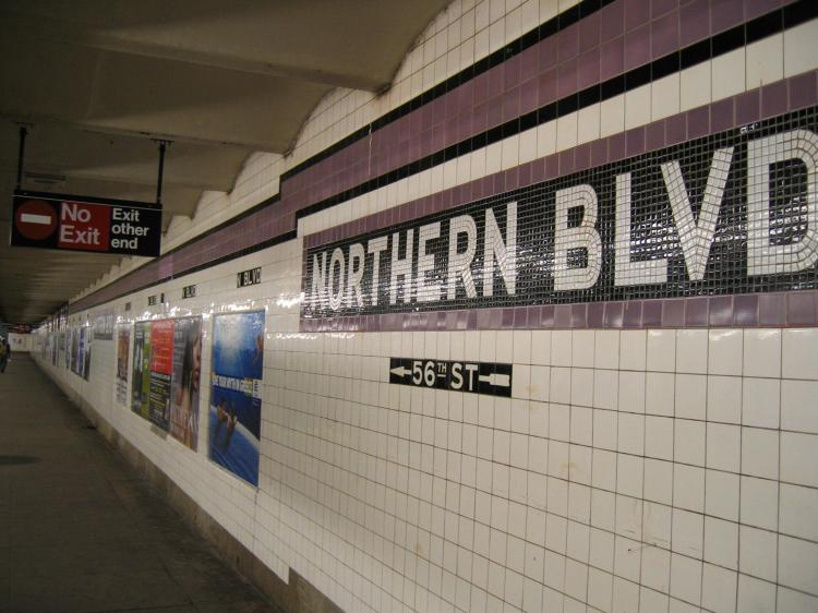(69k, 750x562)<br><b>Country:</b> United States<br><b>City:</b> New York<br><b>System:</b> New York City Transit<br><b>Line:</b> IND Queens Boulevard Line<br><b>Location:</b> Northern Boulevard <br><b>Photo by:</b> Robbie Rosenfeld<br><b>Date:</b> 4/5/2005<br><b>Viewed (this week/total):</b> 3 / 2685