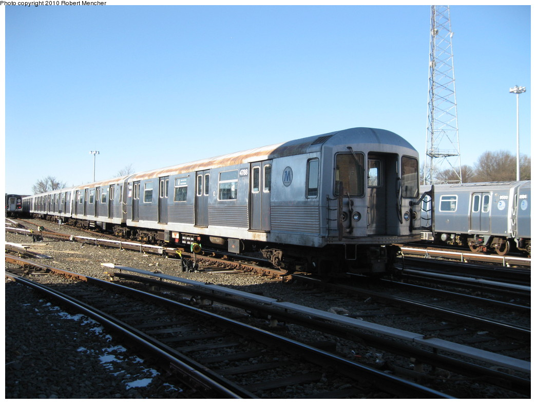 (203k, 1044x788)<br><b>Country:</b> United States<br><b>City:</b> New York<br><b>System:</b> New York City Transit<br><b>Location:</b> East New York Yard/Shops<br><b>Car:</b> R-42 (St. Louis, 1969-1970)  4788 <br><b>Photo by:</b> Robert Mencher<br><b>Date:</b> 2/8/2010<br><b>Viewed (this week/total):</b> 0 / 939