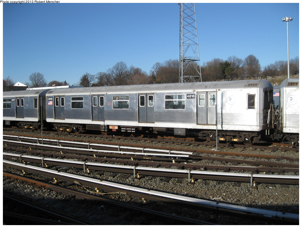 (244k, 1044x788)<br><b>Country:</b> United States<br><b>City:</b> New York<br><b>System:</b> New York City Transit<br><b>Location:</b> East New York Yard/Shops<br><b>Car:</b> R-42 (St. Louis, 1969-1970)  4816 <br><b>Photo by:</b> Robert Mencher<br><b>Date:</b> 2/8/2010<br><b>Viewed (this week/total):</b> 0 / 329