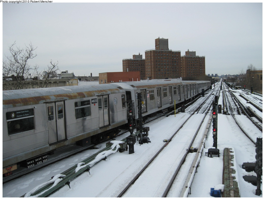 (194k, 1044x788)<br><b>Country:</b> United States<br><b>City:</b> New York<br><b>System:</b> New York City Transit<br><b>Line:</b> BMT Nassau Street/Jamaica Line<br><b>Location:</b> Broadway/East New York (Broadway Junction) <br><b>Route:</b> J<br><b>Car:</b> R-42 (St. Louis, 1969-1970)  4815 <br><b>Photo by:</b> Robert Mencher<br><b>Date:</b> 2/13/2010<br><b>Viewed (this week/total):</b> 0 / 803