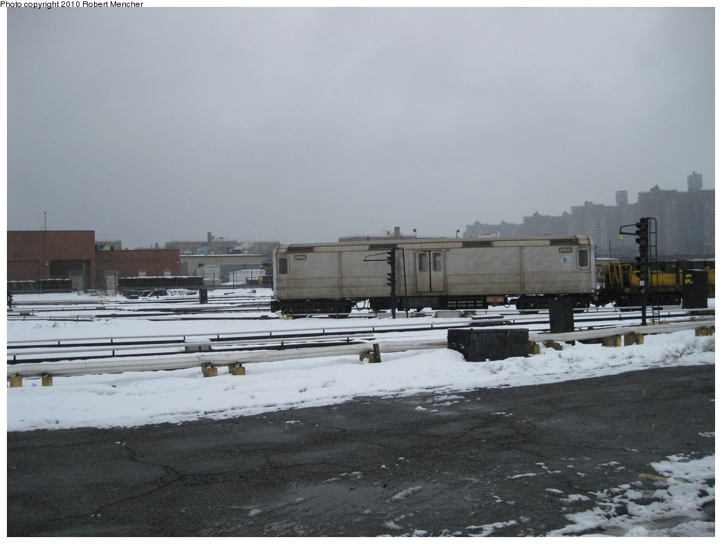 (169k, 1044x788)<br><b>Country:</b> United States<br><b>City:</b> New York<br><b>System:</b> New York City Transit<br><b>Location:</b> Coney Island Yard<br><b>Car:</b> R-127/R-134 (Kawasaki, 1991-1996) EP010 <br><b>Photo by:</b> Robert Mencher<br><b>Date:</b> 2/16/2010<br><b>Viewed (this week/total):</b> 3 / 590