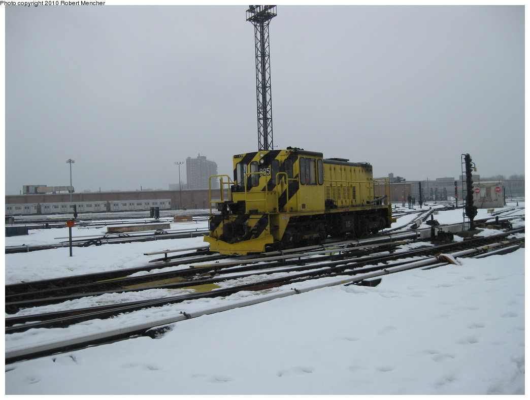 (158k, 1044x788)<br><b>Country:</b> United States<br><b>City:</b> New York<br><b>System:</b> New York City Transit<br><b>Location:</b> Coney Island Yard<br><b>Car:</b> R-77 Locomotive  885 <br><b>Photo by:</b> Robert Mencher<br><b>Date:</b> 2/16/2010<br><b>Viewed (this week/total):</b> 1 / 286