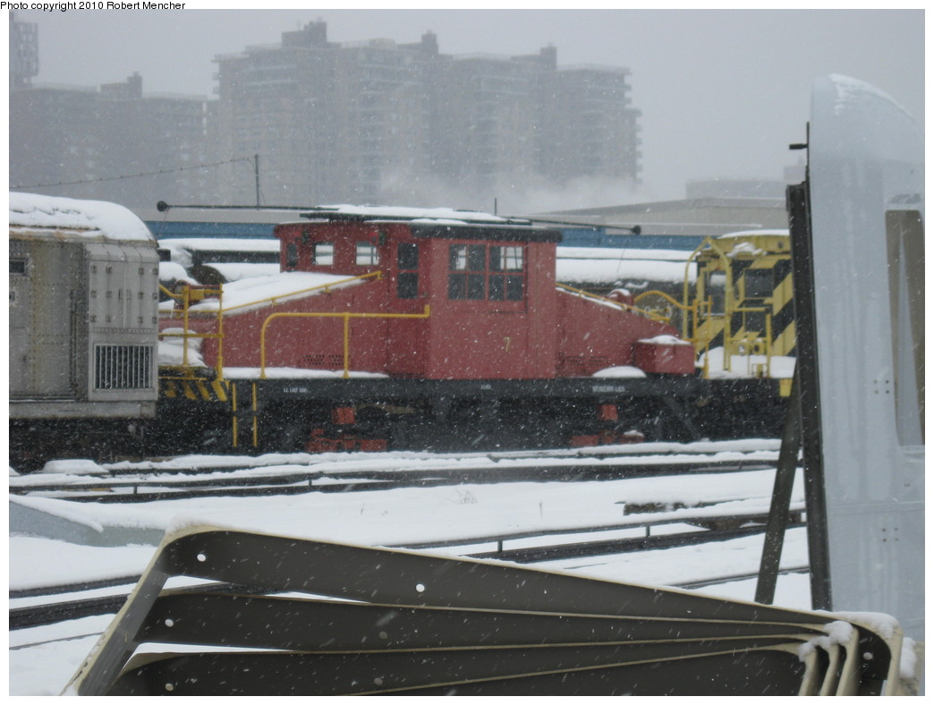 (184k, 1044x788)<br><b>Country:</b> United States<br><b>City:</b> New York<br><b>System:</b> New York City Transit<br><b>Location:</b> Coney Island Yard-Museum Yard<br><b>Car:</b> SBK Steeplecab 7 <br><b>Photo by:</b> Robert Mencher<br><b>Date:</b> 2/16/2010<br><b>Viewed (this week/total):</b> 1 / 794