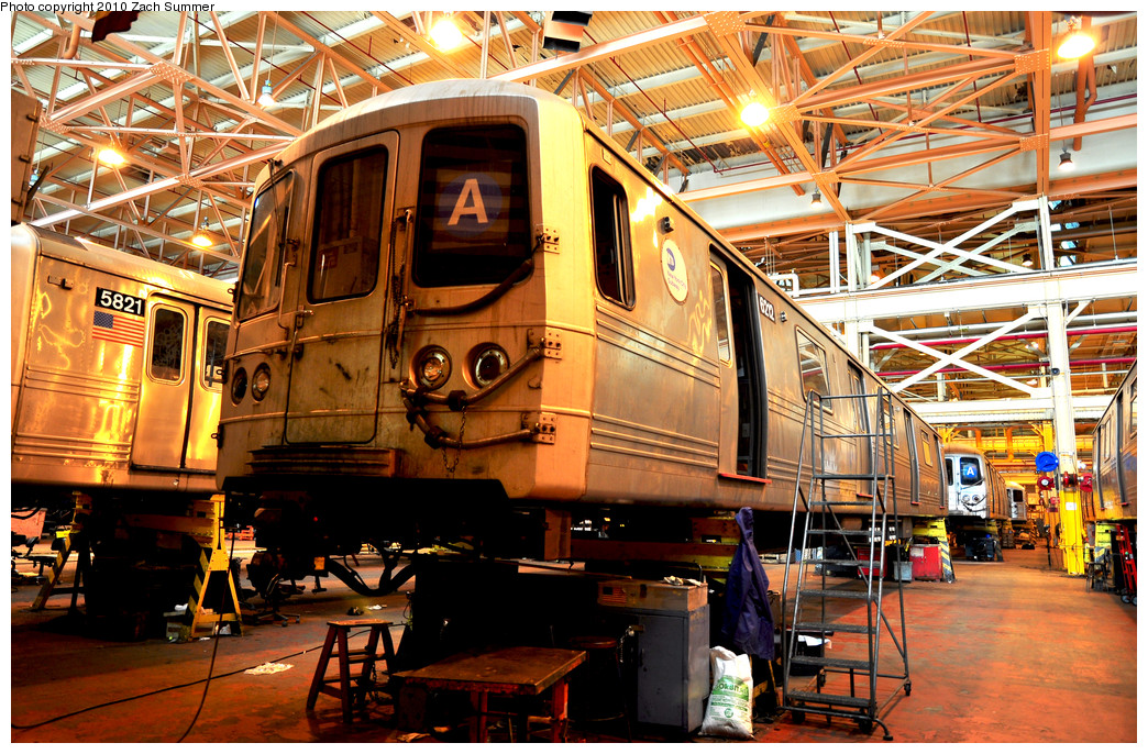 (393k, 1044x686)<br><b>Country:</b> United States<br><b>City:</b> New York<br><b>System:</b> New York City Transit<br><b>Location:</b> Coney Island Shop/Overhaul & Repair Shop<br><b>Car:</b> R-46 (Pullman-Standard, 1974-75) 6212 <br><b>Photo by:</b> Zach Summer<br><b>Date:</b> 1/10/2010<br><b>Viewed (this week/total):</b> 1 / 871