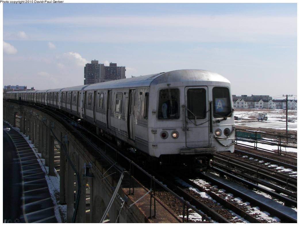 (230k, 1044x788)<br><b>Country:</b> United States<br><b>City:</b> New York<br><b>System:</b> New York City Transit<br><b>Line:</b> IND Rockaway<br><b>Location:</b> Beach 67th Street/Gaston Avenue <br><b>Route:</b> A<br><b>Car:</b> R-44 (St. Louis, 1971-73)  <br><b>Photo by:</b> David-Paul Gerber<br><b>Date:</b> 2/28/2010<br><b>Viewed (this week/total):</b> 3 / 608