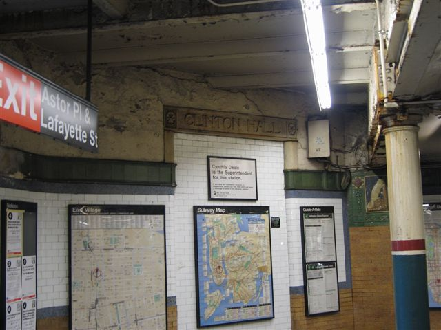 (58k, 640x480)<br><b>Country:</b> United States<br><b>City:</b> New York<br><b>System:</b> New York City Transit<br><b>Line:</b> IRT East Side Line<br><b>Location:</b> Astor Place <br><b>Photo by:</b> David Blair<br><b>Date:</b> 3/7/2007<br><b>Notes:</b> Downtown side.<br><b>Viewed (this week/total):</b> 2 / 827