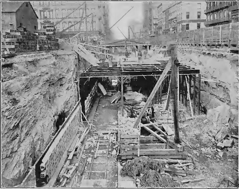 (175k, 773x613)<br><b>Country:</b> United States<br><b>City:</b> New York<br><b>System:</b> New York City Transit<br><b>Line:</b> IRT (Early Views of Construction)<br><b>Collection of:</b> Board of Rapid Transit Railroad Commissioners - File Photo<br><b>Date:</b> 1901<br><b>Notes:</b> Cut in Fourth Avenue, East Side of Union Square (Report of the Board, 1901)<br><b>Viewed (this week/total):</b> 1 / 859