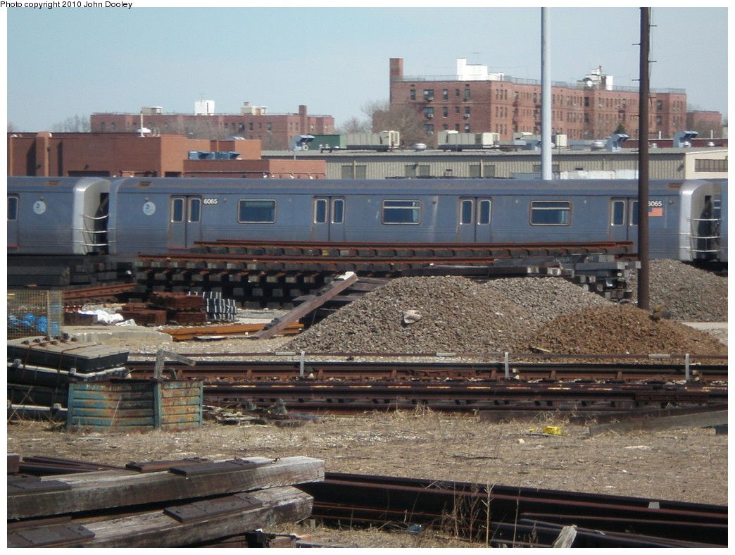 (256k, 1044x788)<br><b>Country:</b> United States<br><b>City:</b> New York<br><b>System:</b> New York City Transit<br><b>Location:</b> Coney Island Yard<br><b>Car:</b> R-46 (Pullman-Standard, 1974-75) 6065 <br><b>Photo by:</b> John Dooley<br><b>Date:</b> 3/16/2010<br><b>Viewed (this week/total):</b> 2 / 572
