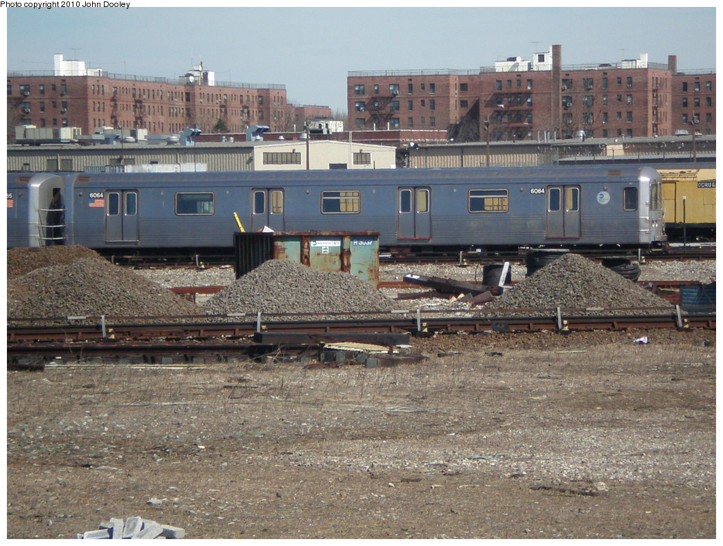 (292k, 1044x788)<br><b>Country:</b> United States<br><b>City:</b> New York<br><b>System:</b> New York City Transit<br><b>Location:</b> Coney Island Yard<br><b>Car:</b> R-46 (Pullman-Standard, 1974-75) 6064 <br><b>Photo by:</b> John Dooley<br><b>Date:</b> 3/16/2010<br><b>Viewed (this week/total):</b> 0 / 756