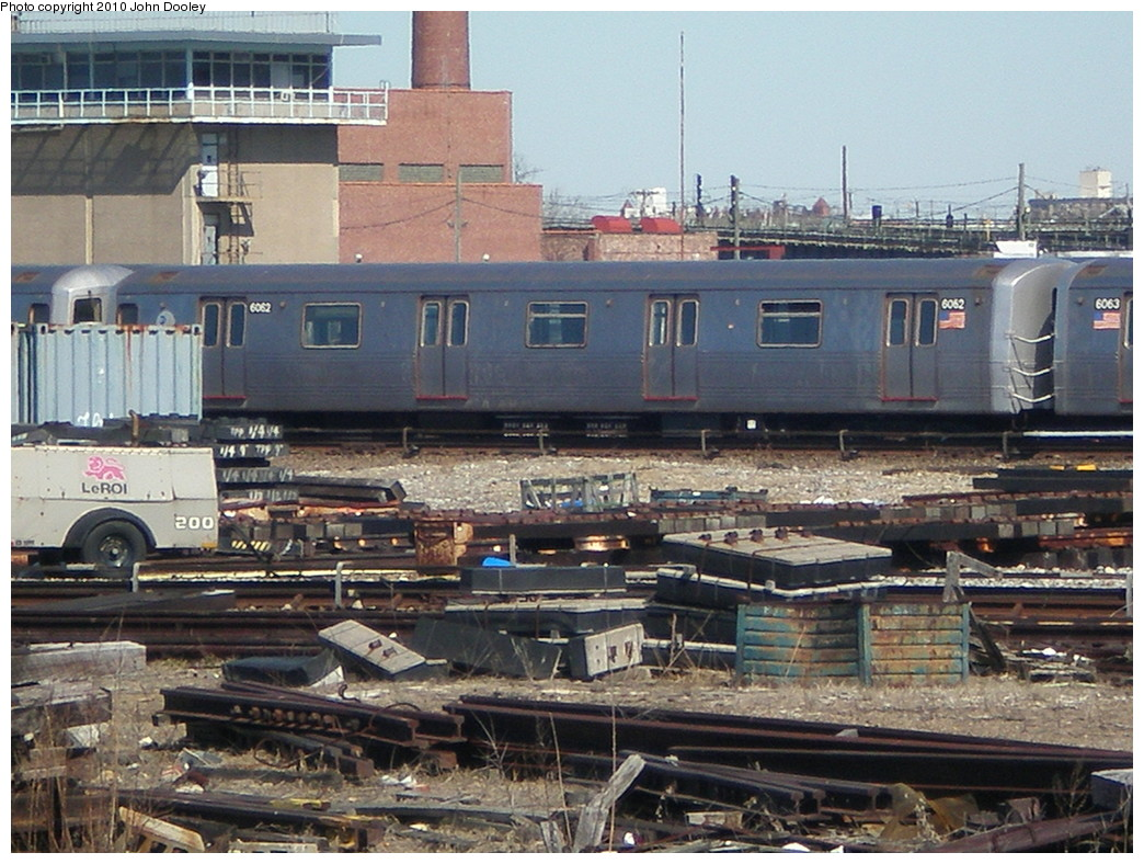 (269k, 1044x788)<br><b>Country:</b> United States<br><b>City:</b> New York<br><b>System:</b> New York City Transit<br><b>Location:</b> Coney Island Yard<br><b>Car:</b> R-46 (Pullman-Standard, 1974-75) 6062 <br><b>Photo by:</b> John Dooley<br><b>Date:</b> 3/16/2010<br><b>Viewed (this week/total):</b> 0 / 376