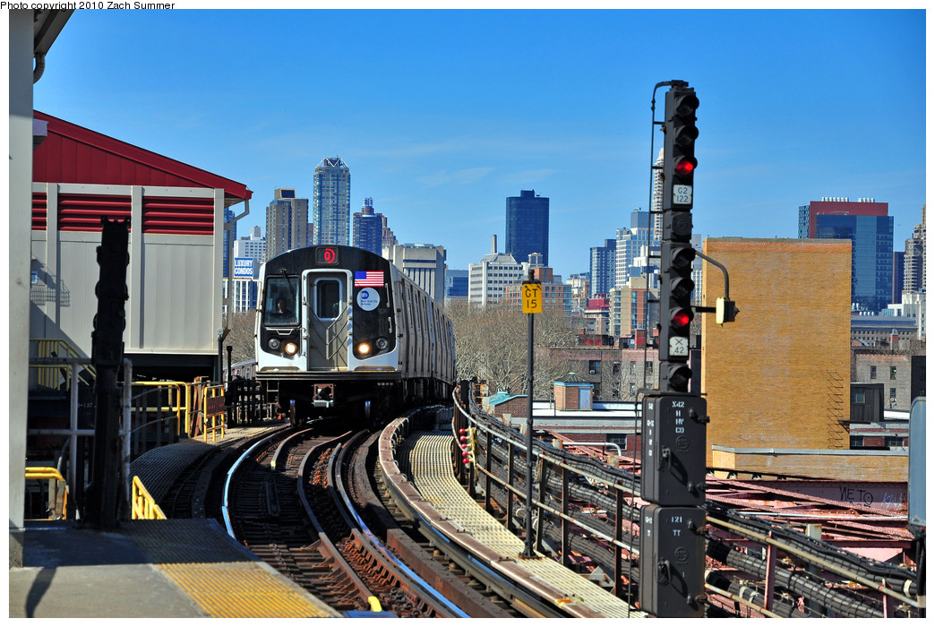 (302k, 1044x700)<br><b>Country:</b> United States<br><b>City:</b> New York<br><b>System:</b> New York City Transit<br><b>Line:</b> BMT Astoria Line<br><b>Location:</b> Queensborough Plaza <br><b>Route:</b> Q<br><b>Car:</b> R-160B (Kawasaki, 2005-2008)  8813 <br><b>Photo by:</b> Zach Summer<br><b>Date:</b> 3/7/2010<br><b>Notes:</b> Q Trains extended from 57 St/7 Av to Ditmars Blvd<br><b>Viewed (this week/total):</b> 1 / 1011