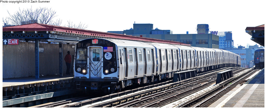 (201k, 1044x429)<br><b>Country:</b> United States<br><b>City:</b> New York<br><b>System:</b> New York City Transit<br><b>Line:</b> BMT Astoria Line<br><b>Location:</b> 36th/Washington Aves. <br><b>Route:</b> Q<br><b>Car:</b> R-160A-2 (Alstom, 2005-2008, 5 car sets)  8678 <br><b>Photo by:</b> Zach Summer<br><b>Date:</b> 3/7/2010<br><b>Notes:</b> Q Trains Extended from 57 St/7 Av to Ditmars Blvd<br><b>Viewed (this week/total):</b> 1 / 1268