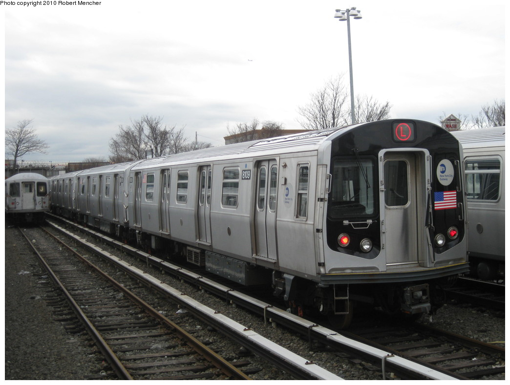 (186k, 1044x788)<br><b>Country:</b> United States<br><b>City:</b> New York<br><b>System:</b> New York City Transit<br><b>Location:</b> East New York Yard/Shops<br><b>Car:</b> R-143 (Kawasaki, 2001-2002) 8109 <br><b>Photo by:</b> Robert Mencher<br><b>Date:</b> 3/31/2010<br><b>Viewed (this week/total):</b> 0 / 589